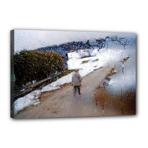 Rainy Day, Salzburg 12  X 18  Framed Canvas Print