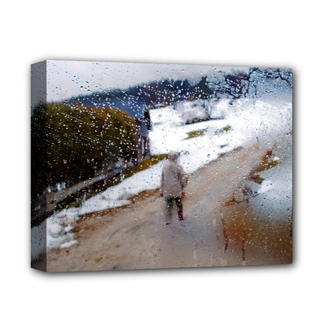 Rainy Day, Salzburg Deluxe Canvas 14  X 11  (stretched)