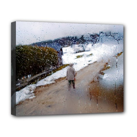 rainy day, Salzburg Deluxe Canvas 20  x 16  (Stretched)