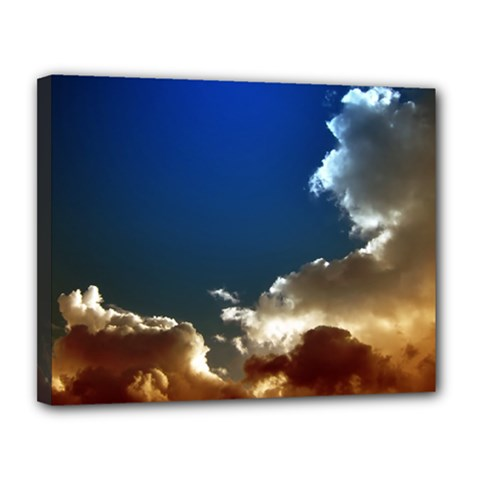 Cloudscape 11  x 14  Framed Canvas Print