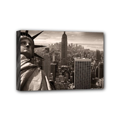 Statue of Liberty, New York 4  x 6  Framed Canvas Print