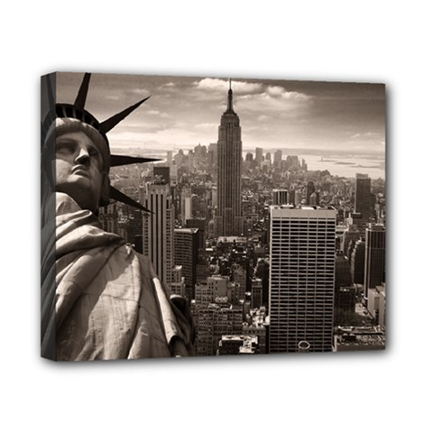 Statue of Liberty, New York 8  x 10  Framed Canvas Print