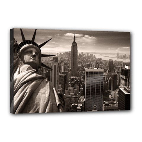 Statue of Liberty, New York 12  x 18  Framed Canvas Print