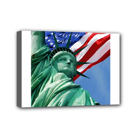 Statue of Liberty, New York 5  x 7  Framed Canvas Print
