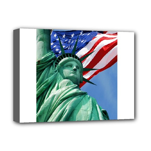 Statue Of Liberty, New York Deluxe Canvas 16  X 12  (stretched)