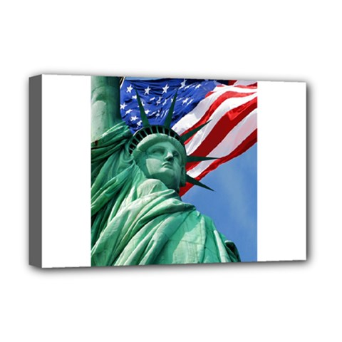 Statue Of Liberty, New York Deluxe Canvas 18  X 12  (stretched)