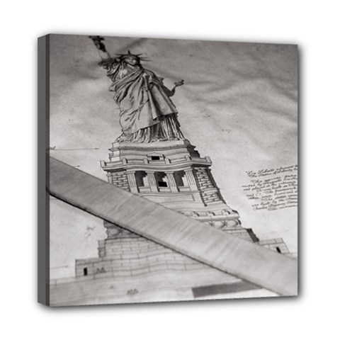Statue Of Liberty, New York 8  X 8  Framed Canvas Print