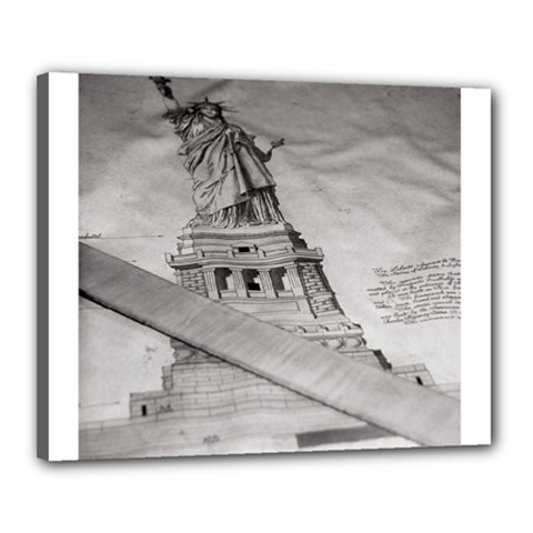 Statue Of Liberty, New York 16  X 20  Framed Canvas Print