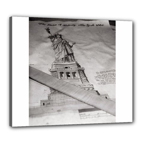 Statue Of Liberty, New York 20  X 24  Framed Canvas Print