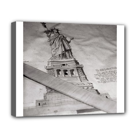 Statue Of Liberty, New York Deluxe Canvas 20  X 16  (stretched)
