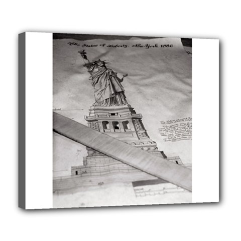 Statue Of Liberty, New York Deluxe Canvas 24  X 20  (stretched)