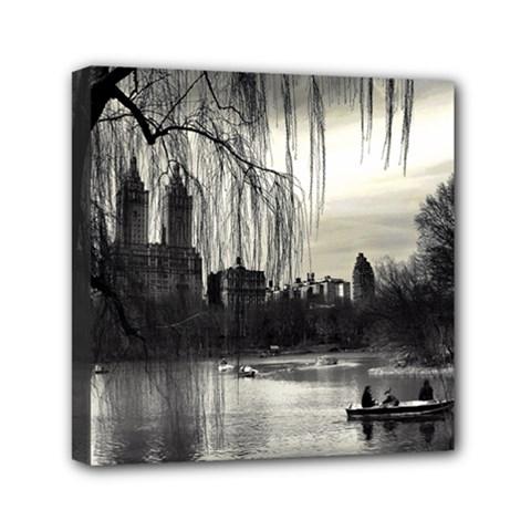 Central Park, New York 6  x 6  Framed Canvas Print