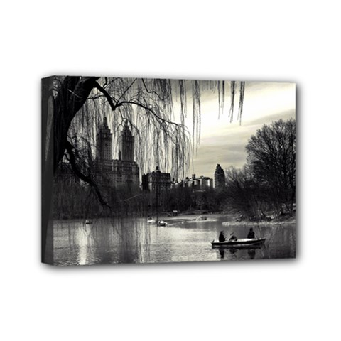 Central Park, New York 5  X 7  Framed Canvas Print