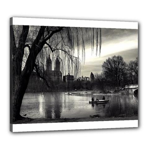 Central Park, New York 20  X 24  Framed Canvas Print