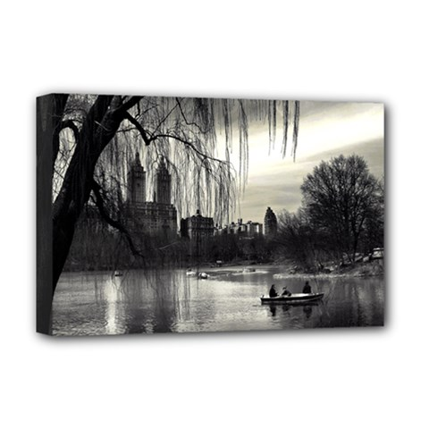 Central Park, New York Deluxe Canvas 18  x 12  (Stretched)