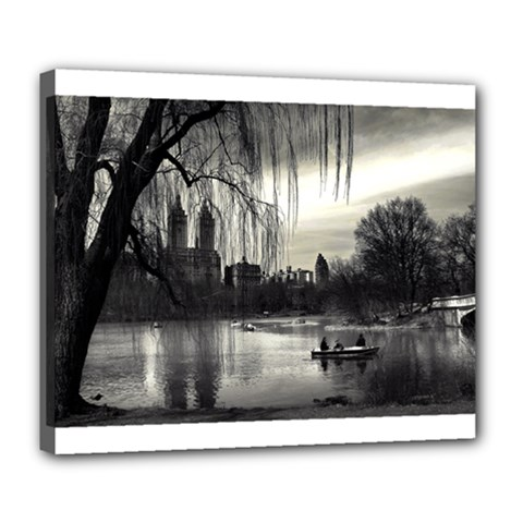 Central Park, New York Deluxe Canvas 24  x 20  (Stretched)