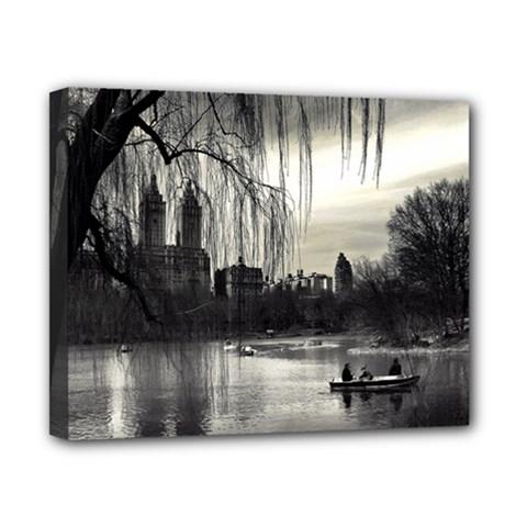 Central Park, New York 8  X 10  Framed Canvas Print