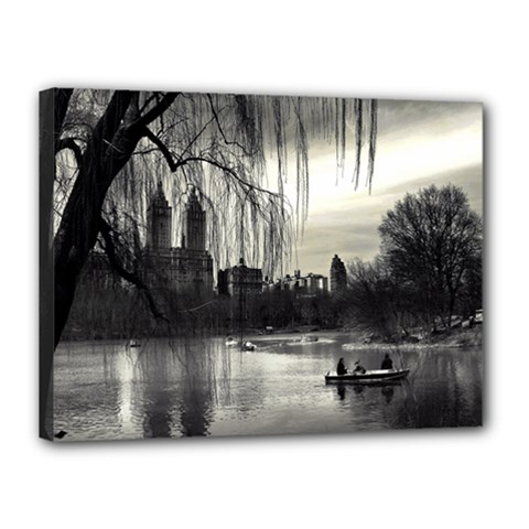Central Park, New York 12  x 16  Framed Canvas Print