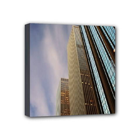 Skyscrapers, New York 4  x 4  Framed Canvas Print