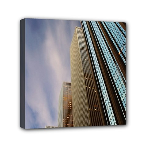 Skyscrapers, New York 6  x 6  Framed Canvas Print