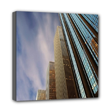 Skyscrapers, New York 8  x 8  Framed Canvas Print