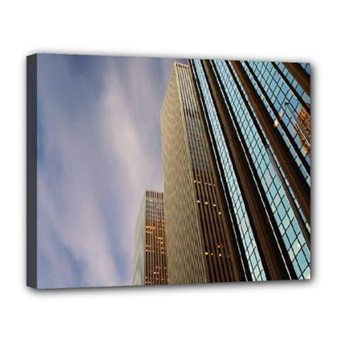 Skyscrapers, New York 11  x 14  Framed Canvas Print