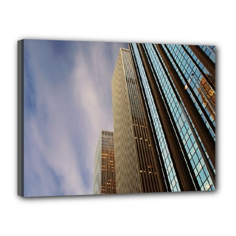 Skyscrapers, New York 12  X 16  Framed Canvas Print