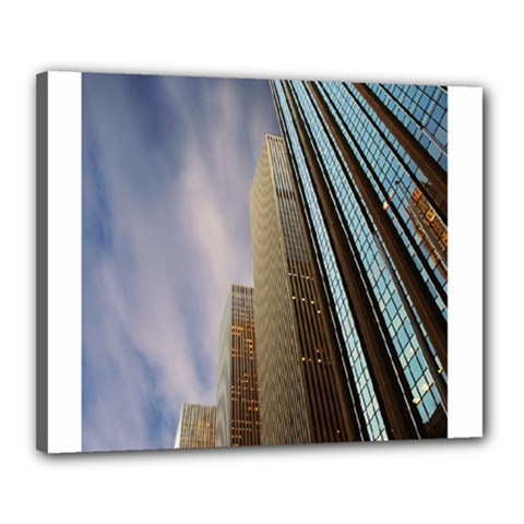 Skyscrapers, New York 16  X 20  Framed Canvas Print