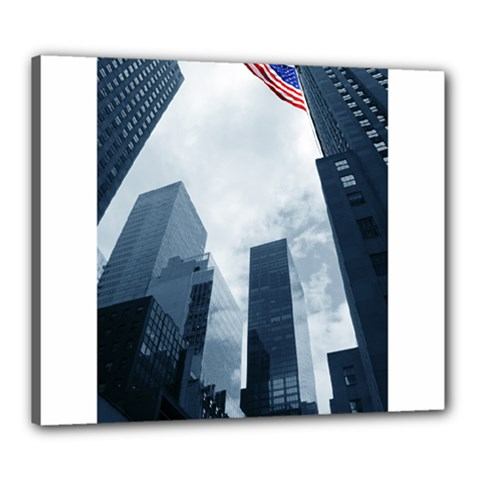 Skyscrapers, New York 20  x 24  Framed Canvas Print