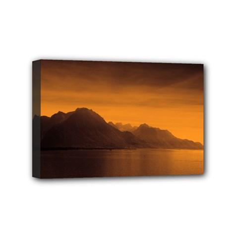 Waterscape, Switzerland 4  x 6  Framed Canvas Print