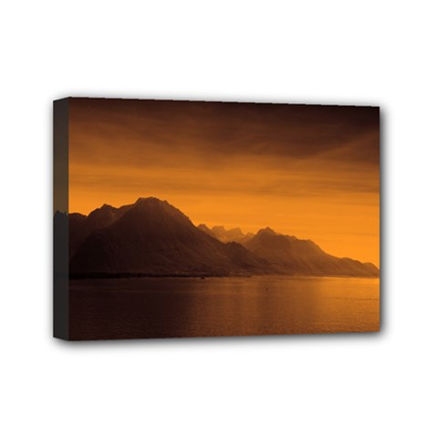 Waterscape, Switzerland 5  x 7  Framed Canvas Print