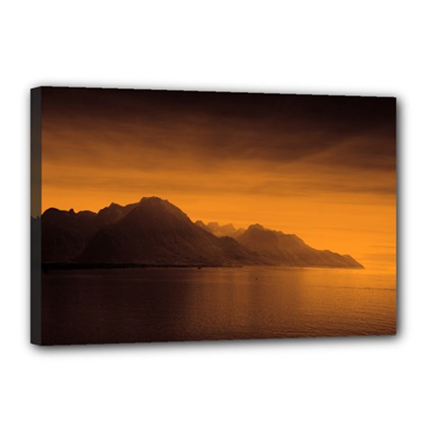 Waterscape, Switzerland 12  X 18  Framed Canvas Print