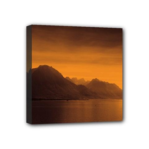 Waterscape, Switzerland 4  X 4  Framed Canvas Print