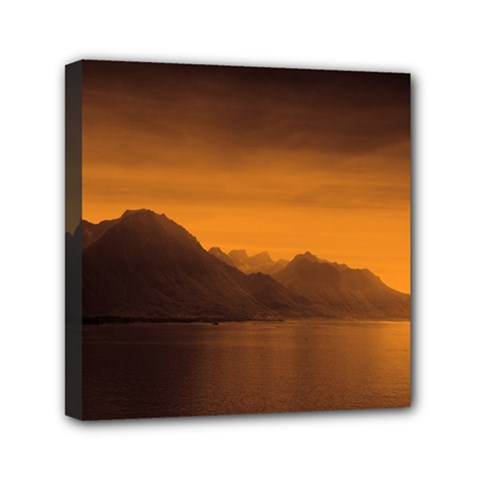 Waterscape, Switzerland 6  x 6  Framed Canvas Print