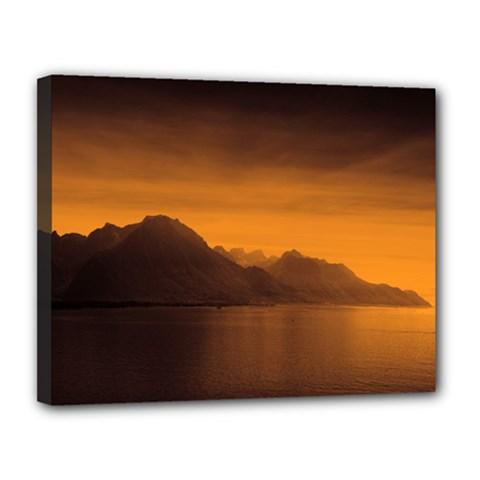 Waterscape, Switzerland 11  x 14  Framed Canvas Print