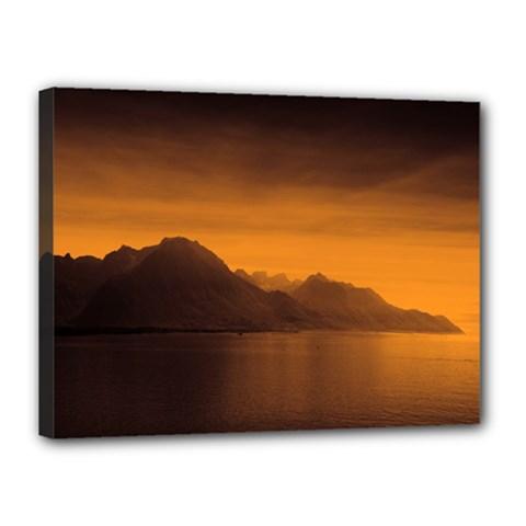 Waterscape, Switzerland 12  X 16  Framed Canvas Print