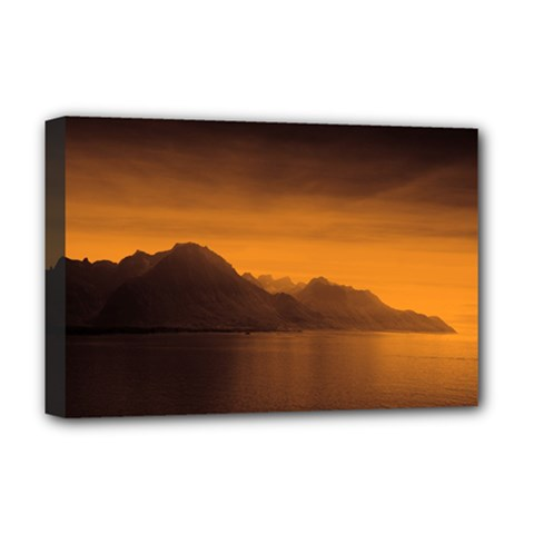 Waterscape, Switzerland Deluxe Canvas 18  x 12  (Stretched)