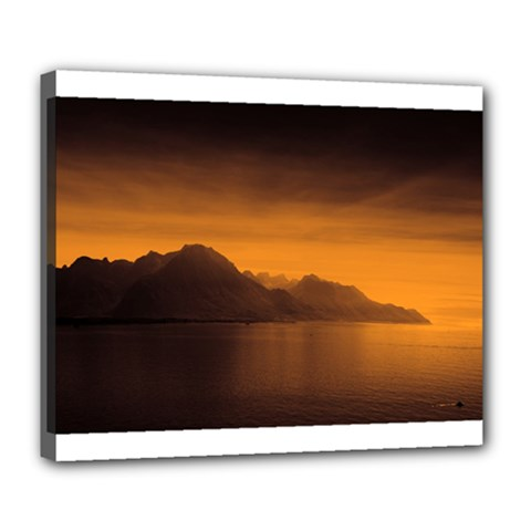 Waterscape, Switzerland Deluxe Canvas 24  X 20  (stretched)