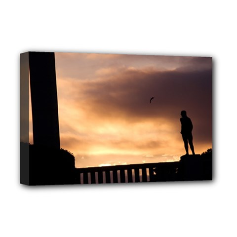 Vigeland Park, Oslo Deluxe Canvas 18  x 12  (Stretched)