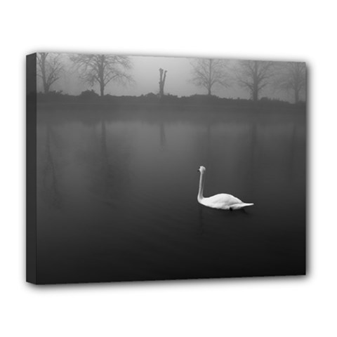 swan 11  x 14  Framed Canvas Print