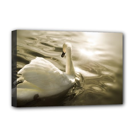swan Deluxe Canvas 18  x 12  (Stretched)