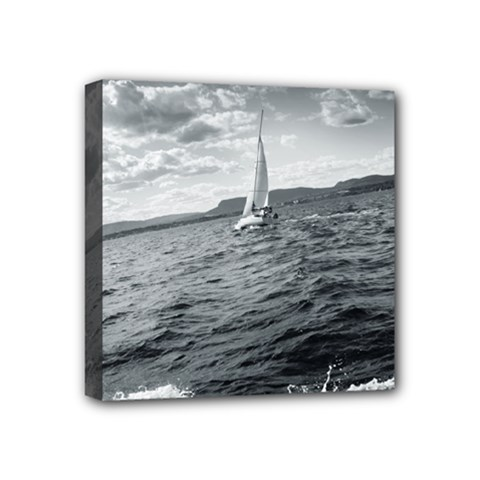 Sailing 4  X 4  Framed Canvas Print