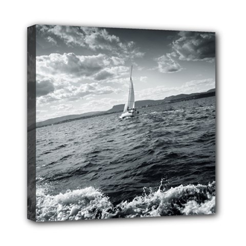 sailing 8  x 8  Framed Canvas Print