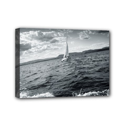 Sailing 5  X 7  Framed Canvas Print