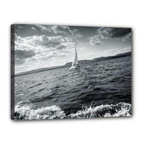 Sailing 12  X 16  Framed Canvas Print