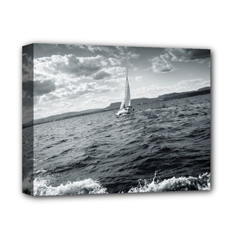sailing Deluxe Canvas 14  x 11  (Stretched)