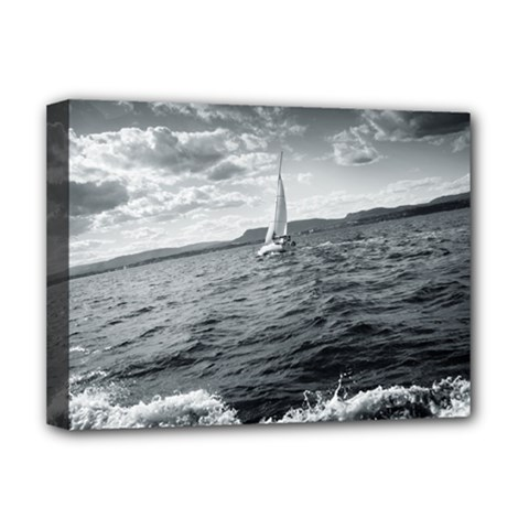 sailing Deluxe Canvas 16  x 12  (Stretched)
