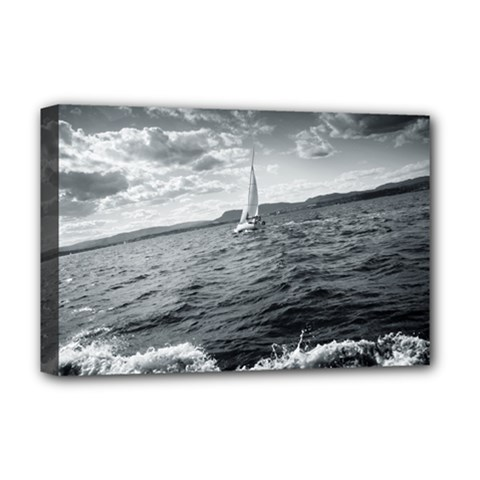 Sailing Deluxe Canvas 18  X 12  (stretched)