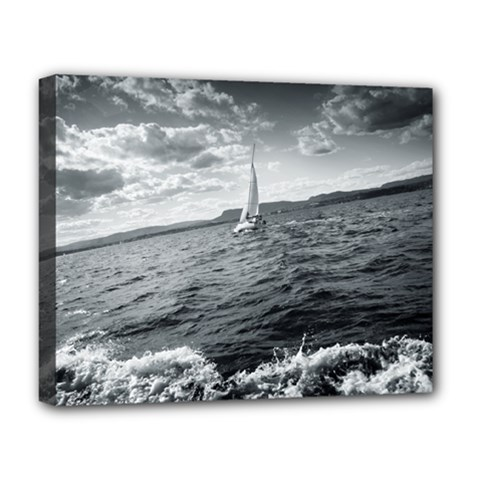 sailing Deluxe Canvas 20  x 16  (Stretched)