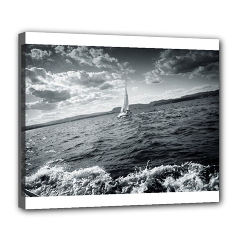 Sailing Deluxe Canvas 24  X 20  (stretched)